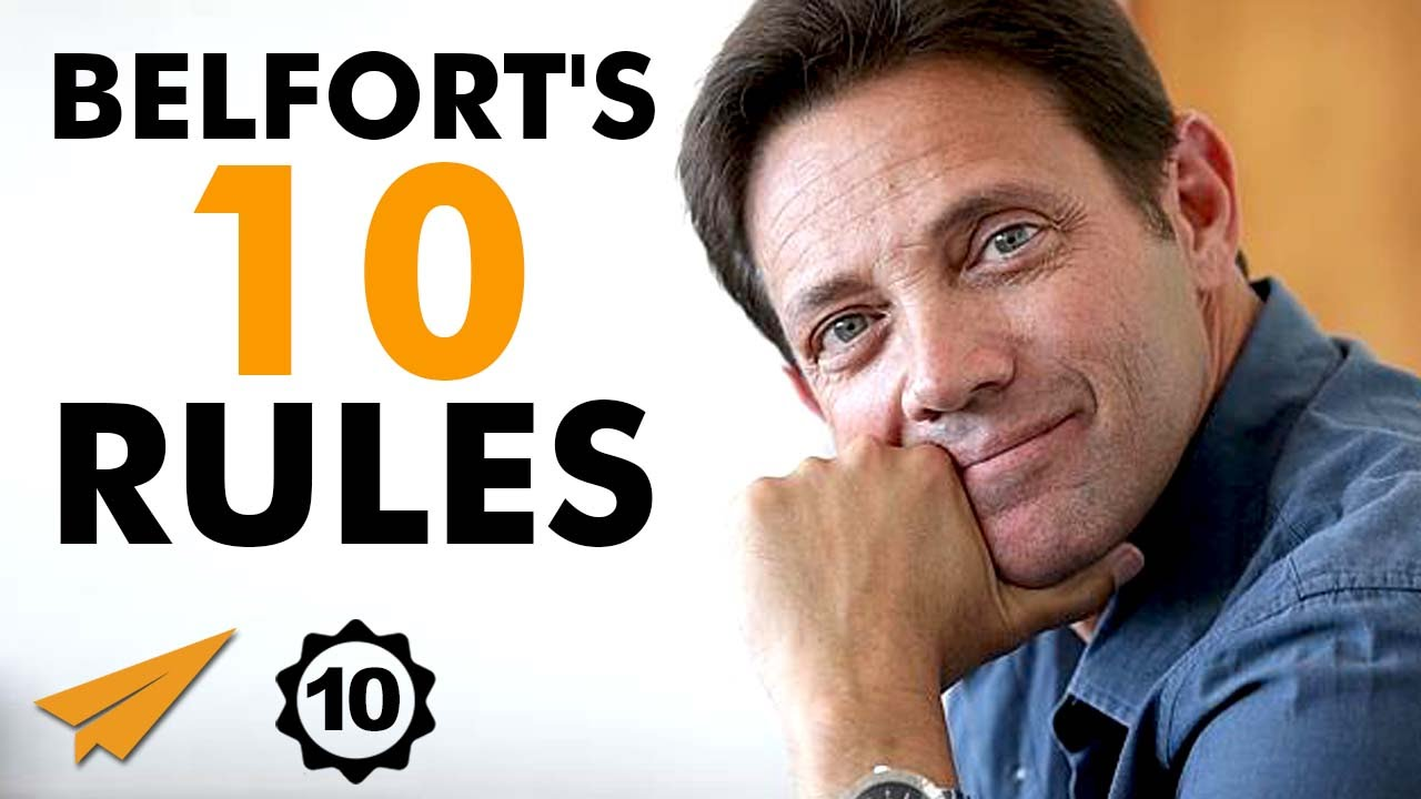 Jordan Belfort's Top 10 Rules For Success (@wolfofwallst)