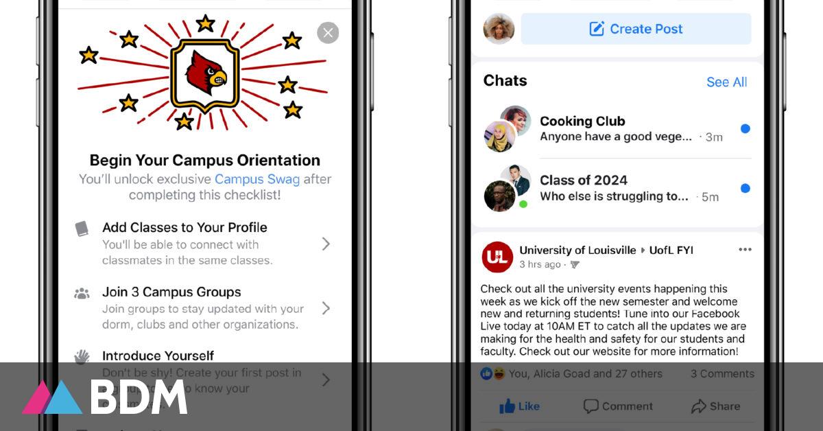 Facebook lance Campus, une section dédiée aux étudiants - BDM